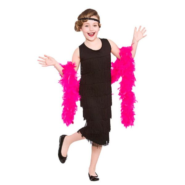 Girls 1950s Charleston Flapper Costume for 50s Rockabilly Fifties Fancy Dress